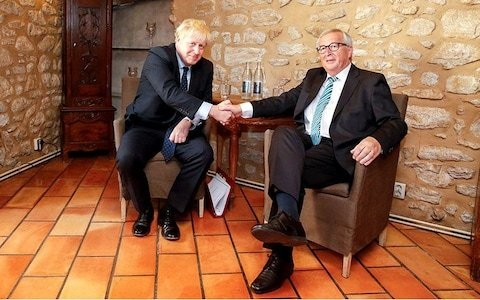 Was Juncker trying to send a message by serving Boris snails and salmon?