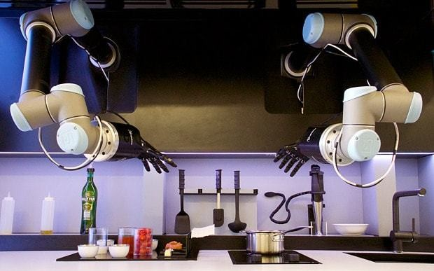 Robotic hands cook any dish with skill of master chef...then clean up