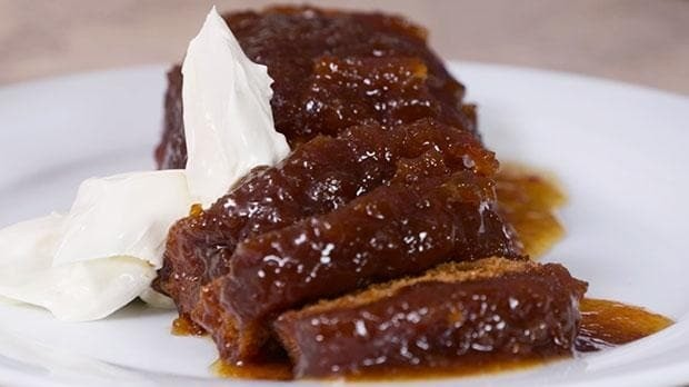Three ingredient desserts: sticky marmalade and ginger pudding