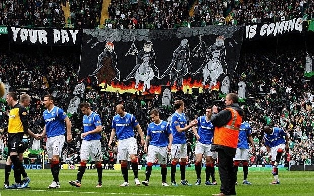 Celtic fans' dig at Rangers is a welcome return of a tradition missing since the last Old Firm clash
