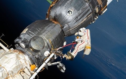 Leak on International Space Station blamed on 'botched repair job'