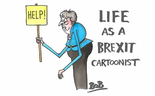 Seeing the bright side of Brexit - behind the scenes with Telegraph cartoonists Matt Pritchett and Bob Moran