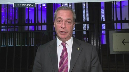 Nigel Farage: US election result looks 'bigger than Brexit'