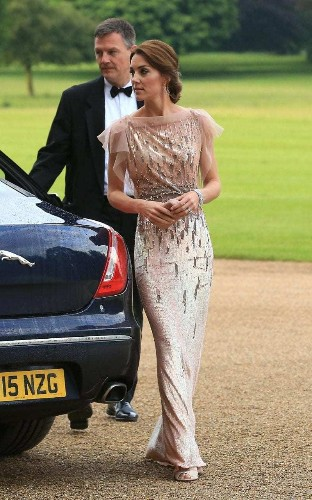 Bringing glamour to Norfolk: The Duchess of Cambridge in Jenny Packham at the EACH gala