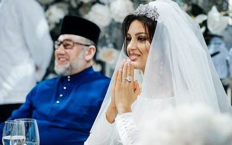 Former Miss Moscow reveals first official photos of marriage to Malaysian king
