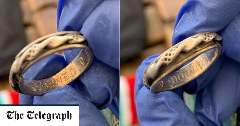 Migrants reunited with wedding rings lost in Mediterranean after surviving shipwreck