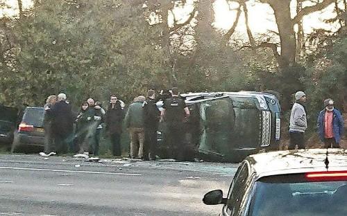 Prince Philip in car crash near Sandringham