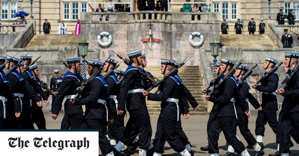Historic Royal Navy passing out parade, in pictures