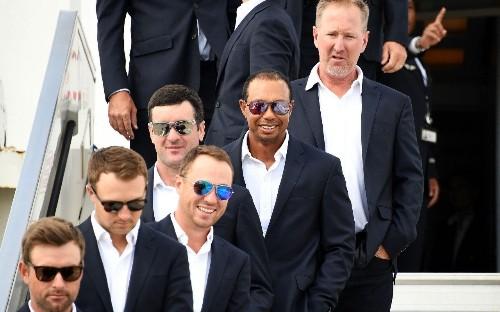 Jim Furyk describes Tiger Woods 'buzz' as USA Ryder Cup team arrives in Paris