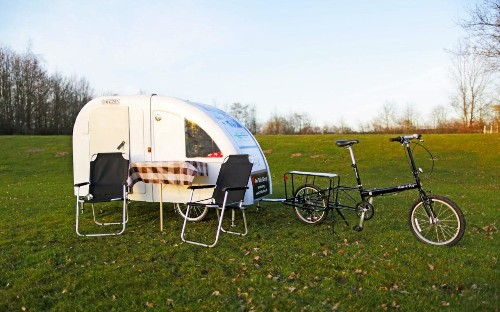 Tiny bike-towed caravans could transform cycling holidays