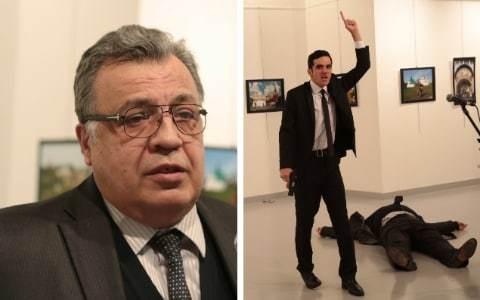 Russian ambassador to Turkey Andrey Karlov shot dead by police officer in Ankara who shouted 'Aleppo, revenge'