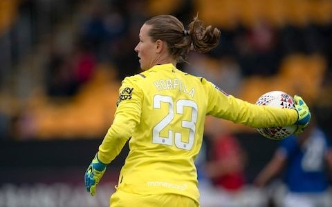 Finland and Everton goalkeeper Tinja-Riikka Korpela says government support helped women's team gain equal pay deal