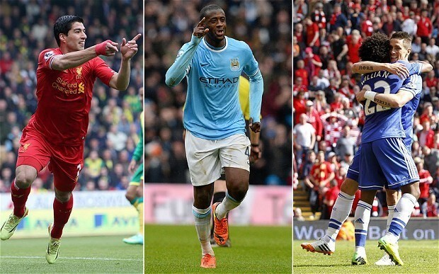 Liverpool, Manchester City and Chelsea enter the final bend in a Premier League title race to end all races