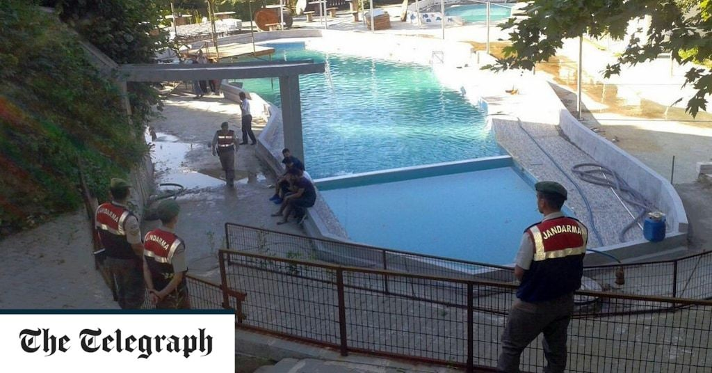 Five people - three of them children - electrocuted at Turkish water park