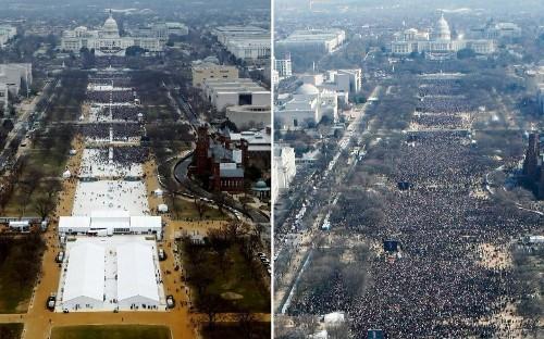 Trump inauguration turnout dwarfed by Obama in 2009