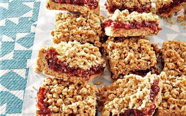 The New Baker: raspberry jam and rye crumble bars