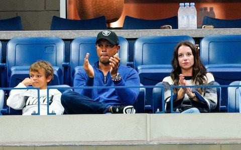 Tiger Woods in the stands to watch friend Rafael Nadal progress to US Open quarter-finals