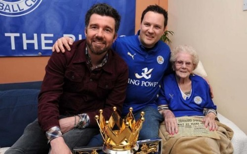 Meet the 97-year-old Leicester City superfan who's helping present the Premier League trophy