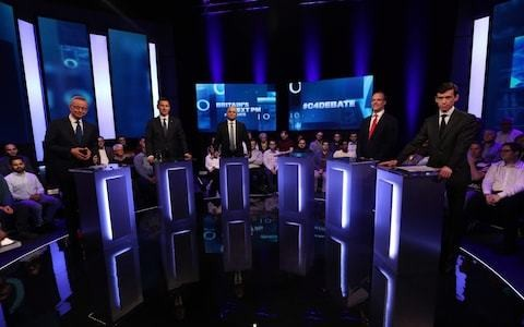 From wide legs to devilled fingers, unpicking the power plays of the Conservative leadership debates