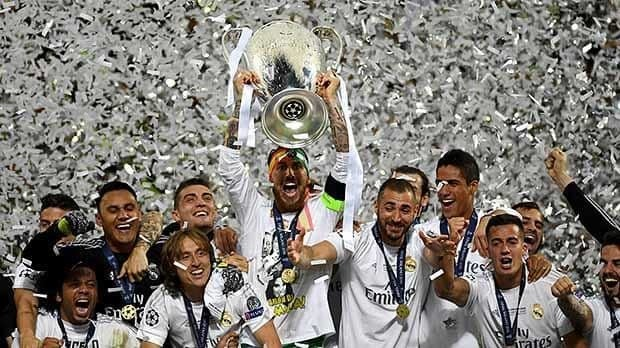 Real Madrid celebrate with Richard Gere after winning Champions League final against Atletico Madrid