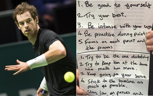 Revealed: Andy Murray's secret motivational tips