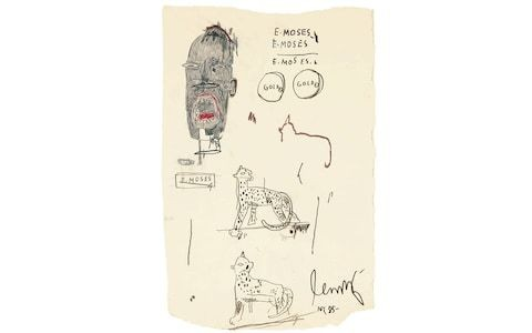 Jean-Michel Basquiat's portrait of champion hurdler Ed Moses goes under the hammer in New York