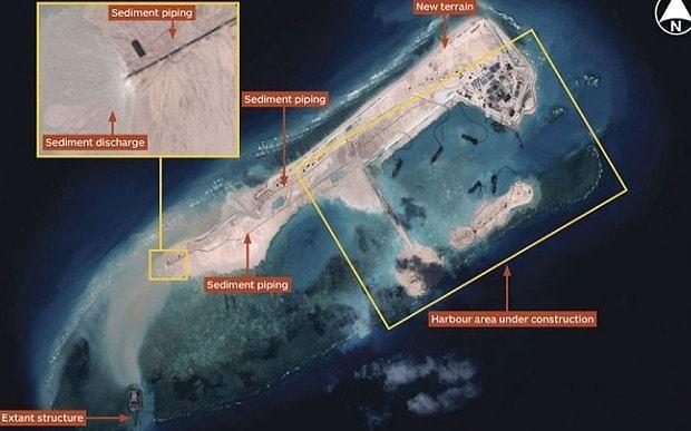 China building South China Sea island big enough for airstrip