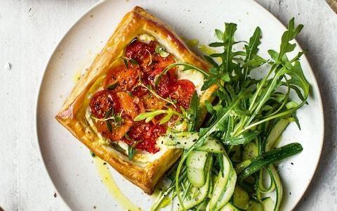 Roast tomato and ricotta tart recipe
