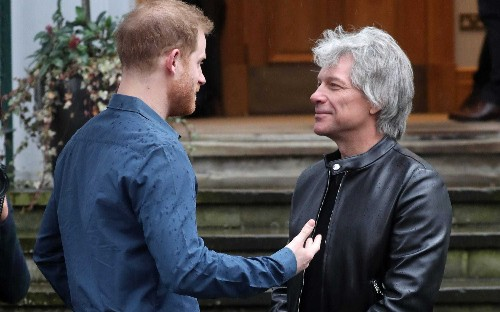 Prince Harry joins Jon Bon Jovi in the recording booth for new charity song