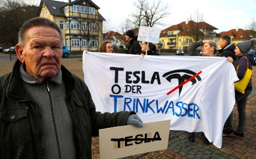 Court halts work on Tesla's German factory after complaints from environmental campaigners