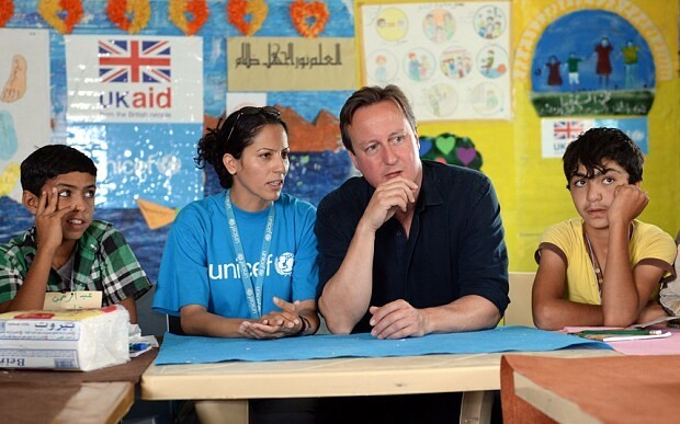 David Cameron pledges extra £1.2 billion for Syrian refugees as leaders gather for talks