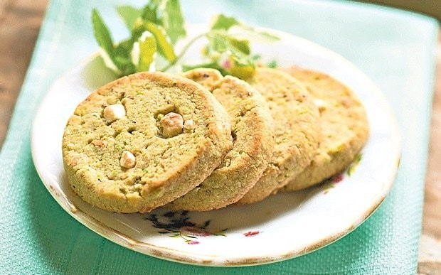 Rose Prince's baking club: pistachio and white chocolate biscuits