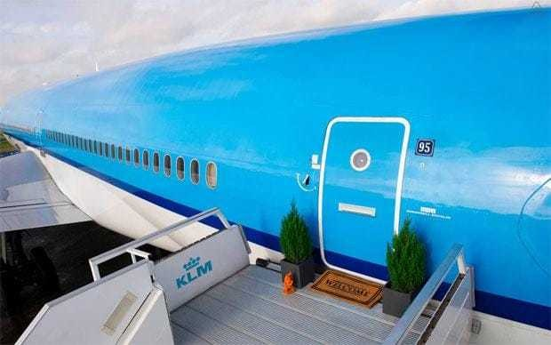 Airline offers stays on converted plane