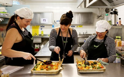 Meet the women who went from living on the streets to making canapés for bankers