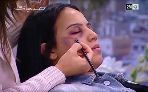 Morocco state TV apologises for showing women how to hide domestic violence with make-up