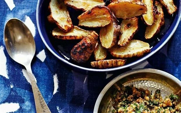 Jerusalem artichokes, anchovy, walnut and parsley relish recipe