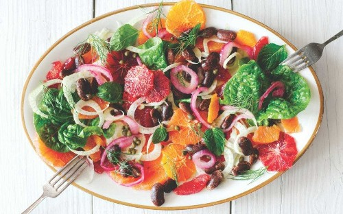Rainbow recipes to perk up Blue Monday, from citrus salads to seared steak