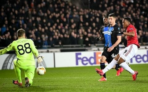 Anthony Martial salvages Europa League draw for Manchester United at Club Brugge