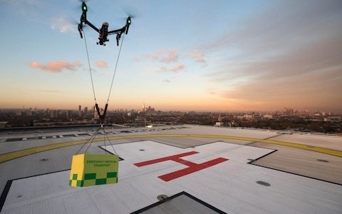 Drones to tackle traffic and deliver medical supplies in UK cities