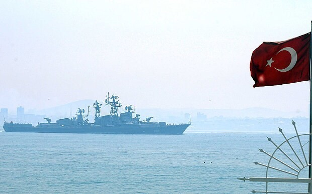 Russian warship fires warning shots at Turkish vessel amid Syria tensions