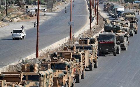 Assad regime bombs near Turkish military convoy