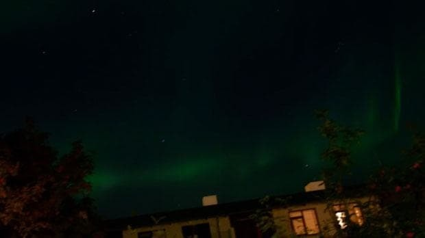 Reykjavik turns off its street lamps to give residents a better view of the Northern Lights