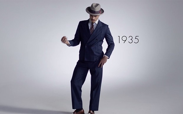 100 years of men's fashion, in just three minutes