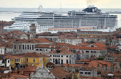 When giant cruise ships make cities look like kids' toys
