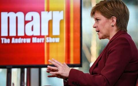 Nicola Sturgeon fails to rule out separate Scotland having hard border with England