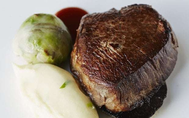 Fillet of beef with cabbage and bacon recipe