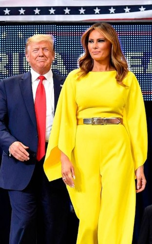 The message behind Melania Trump's very bright yellow jumpsuit