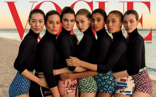Vogue accused of photoshopping cover to make plus-sized model look thinner