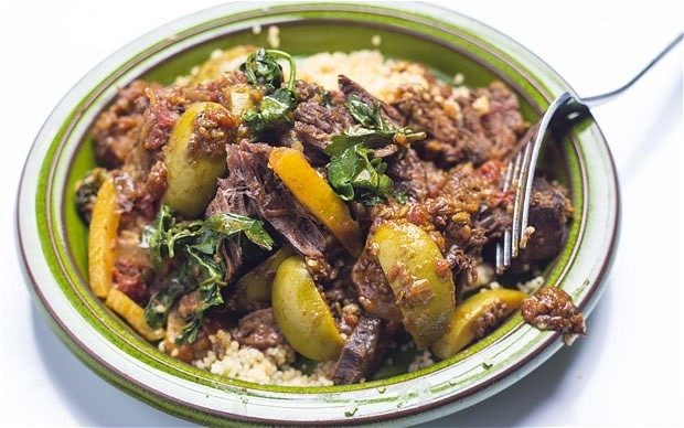 Beef tagine with green olives recipe