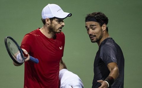 Andy Murray tells Fabio Fognini to 'shut up' as three-hour defeat boils over